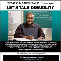 Lets Talk Disability Workshop