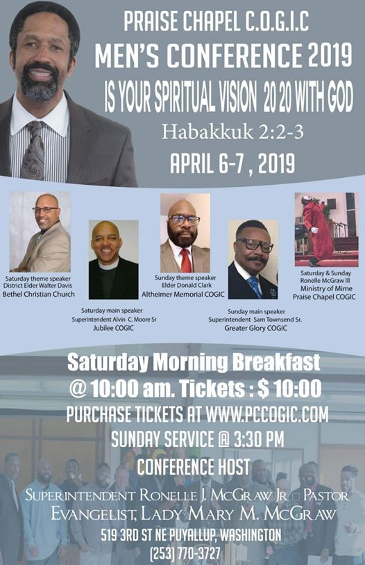 PRAISE CHAPEL COGIC MENS CONFERENCE 2019 at Praise Chapel COGIC