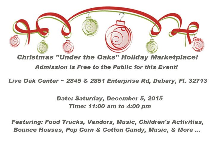 Christmas Under The Oaks.Christmas Under The Oaks Holiday Marketplace At Josette S