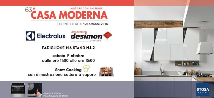 Evento Show Cooking Electrolux & De Simon Arredamenti at 63^CASA ...
