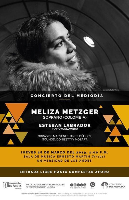 Concierto del medioda Meliza Metzger soprano