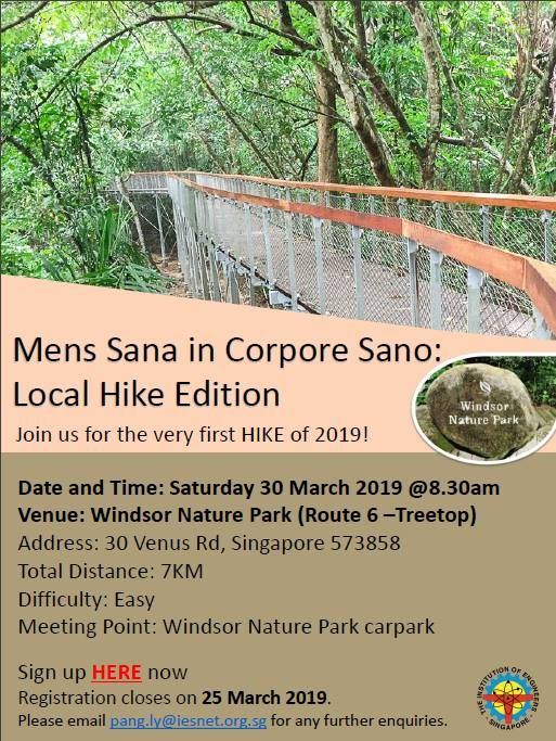 Mens Sana in Corpore Sano Local Hike Edition