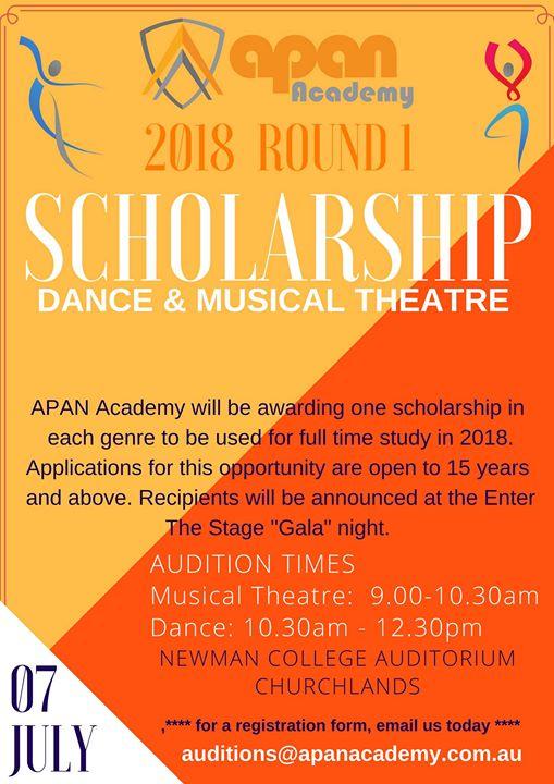 Dance & Musical Theatre Scholarship 2018 Apan Academy