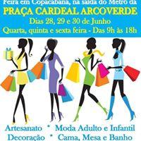 Feira na Praa Cardeal Arcoverde em Copacabana