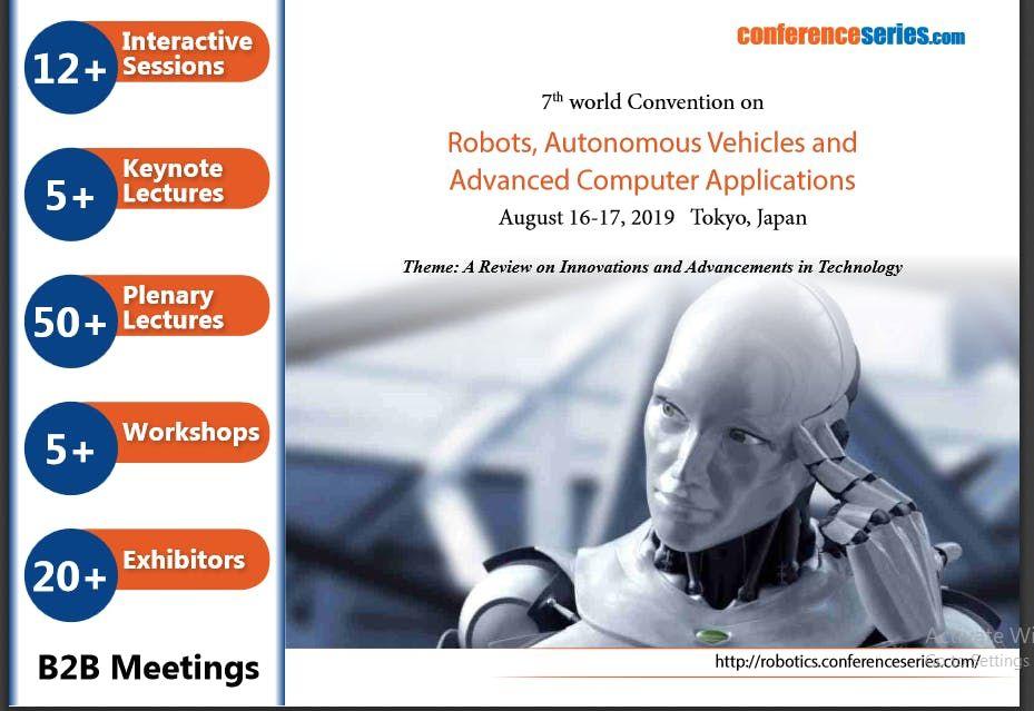 7th world convention on Robots, Autonomous Vehicles and