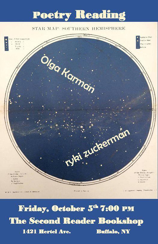 Poetry Reading Olga Karman and ryki zuckerman
