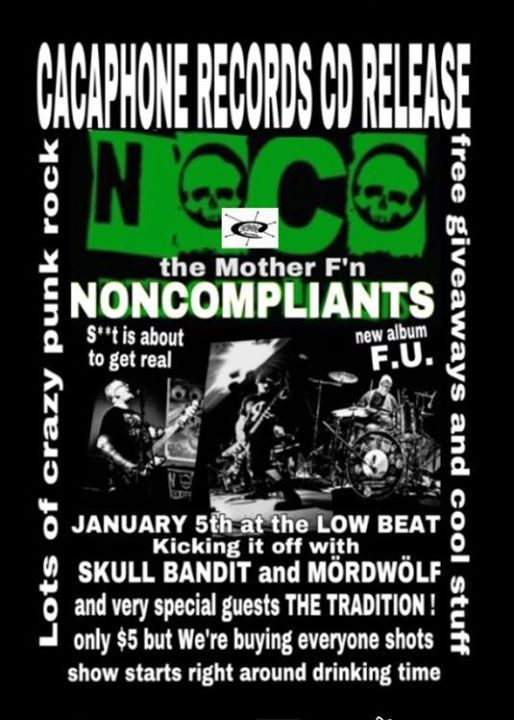 NONCOMPLIANTS CD Release