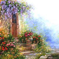 Master Class Oil Painting. Antonietta Varallo - &quotItaly. Tuscany&quot
