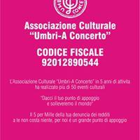 Il 5 x 1000 per la cultura Umbri-A Concerto