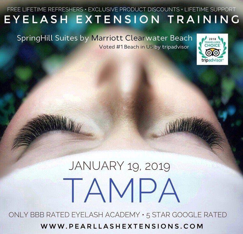 tampa eyelash extension training january 19-20, 2019 at hampton inn ...