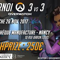 Tournoi LAN Overwatch 3v3  la Mdiathque Manufacture de Nancy