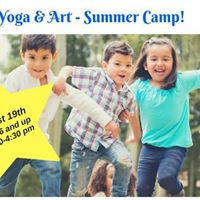Kids Yoga &amp Art Summer Camp Saturday August 12th
