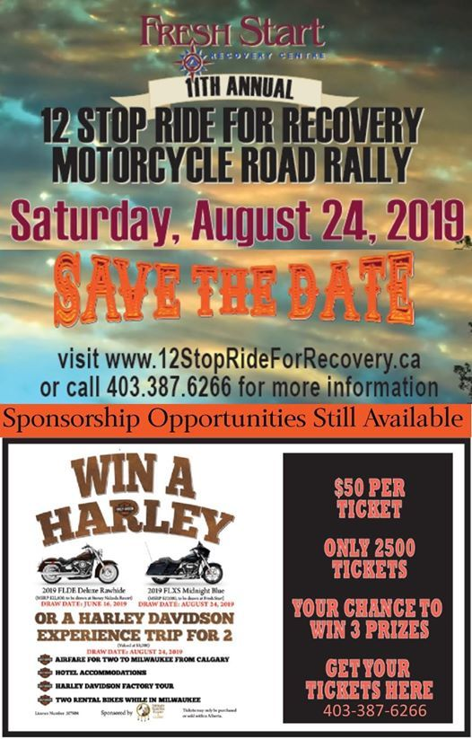 12 Stop Ride for Recovery Motorcycle Road Rally (11th Annual)