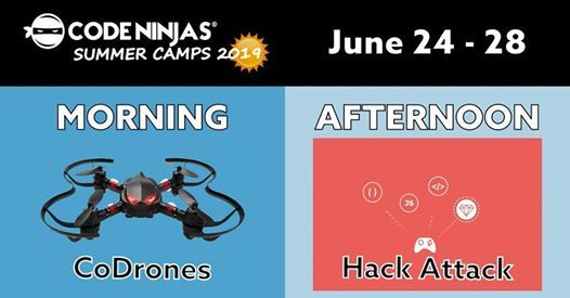 Code Drones morning camp - Hack Attack afternoon camp at