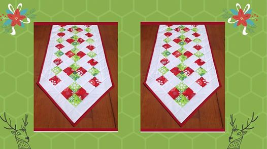 Beginners Christmas table runner with Sandra