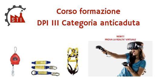 Corso formazione DPI III categoria anticaduta