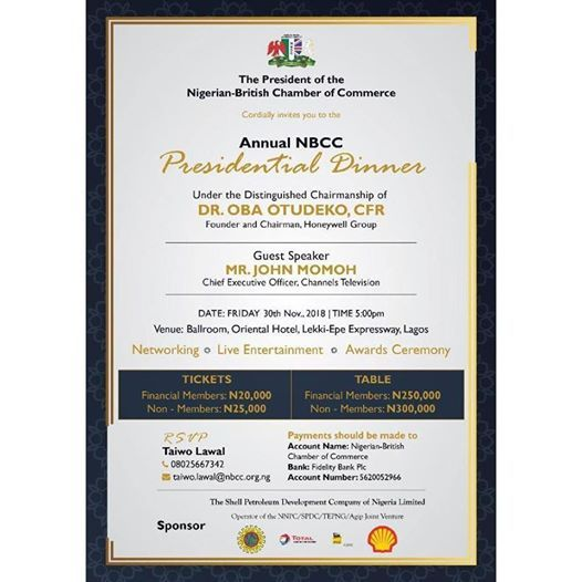 The Annual NBCC Presidential Dinner at Lagos Oriental Hotel3