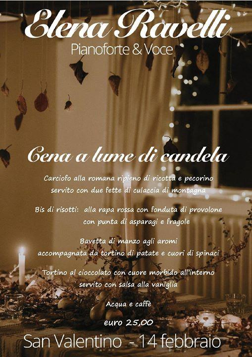 Cena di San Valentino con Elena Ravelli (voce e piano)