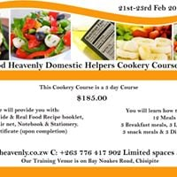 Real Food Heavenly Maids Cookery Course Level 1