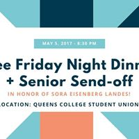 Free Friday Night Dinner &amp Senior Send-off 2017