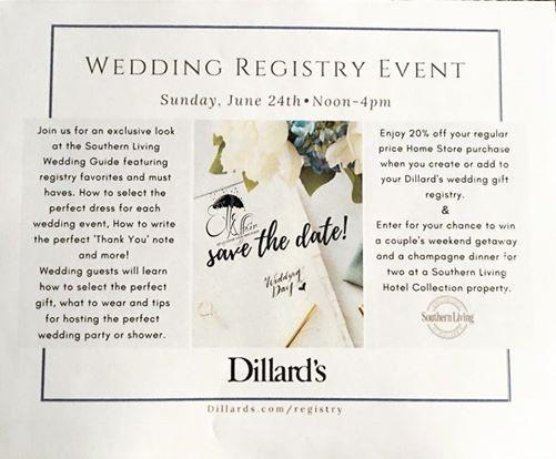 Dillards Wedding Registry Saint Peters