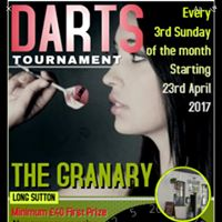 The Granary Long a Sutto Darts Tournament Sunday 23rd April check in 6.30 pm 40 first prize