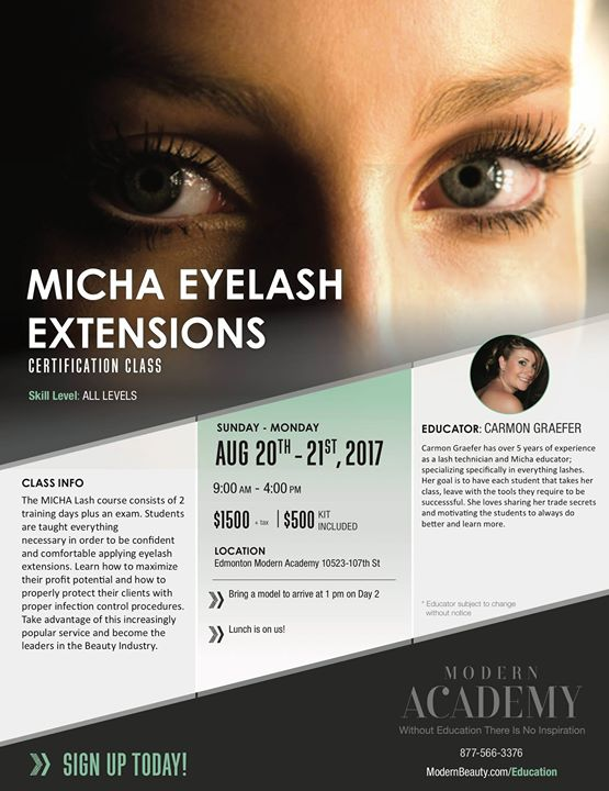 Micha Eyelash Extensions Edmonton At Modern Beauty Supplies Edmonton