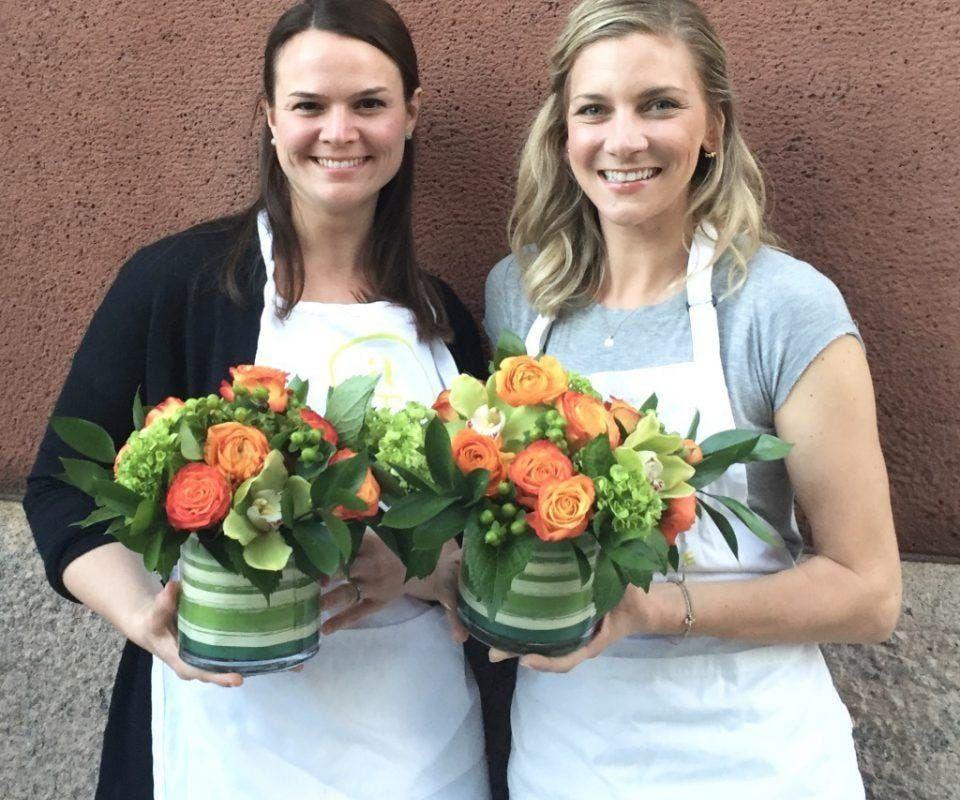 Flower Arranging Workshop and California Wine Tasting