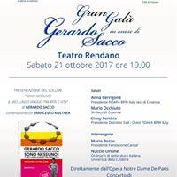 Gran Gal in onore di Gerardo Sacco
