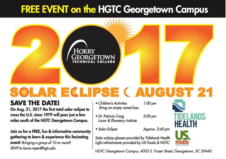 Hgtc Campus Map.Hgtc Solar Eclipse Viewing Event At 4003 S Fraser St Georgetown Sc