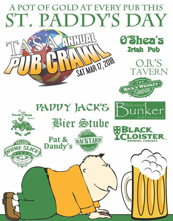 2018 St. Pattys Day Pub Crawl Saturday March 17 2018. Purchas