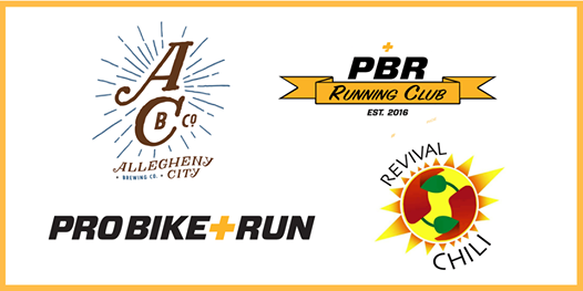 Pro Bike  Run Saturday Run at Allegheny City Brewing with Revival Chili