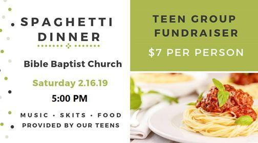 Spaghetti Dinner Teen Fundraiser at Bible Baptist Church1780
