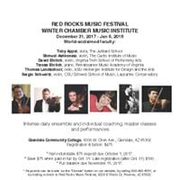 Winter Chamber Music Institute 1231- 16 2018