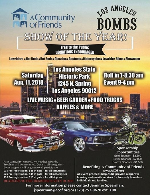 A Community Of Friends LA Bombs Car Show At Los Angeles State - Lowrider car show los angeles 2018