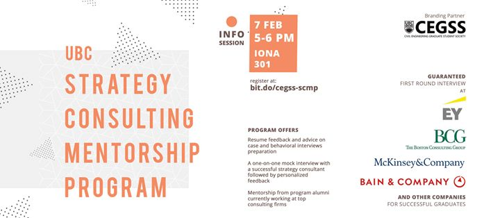 UBC Strategy Consulting Mentorship Program | Info Session at 6000