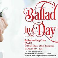 Ballad in a Day Workshop