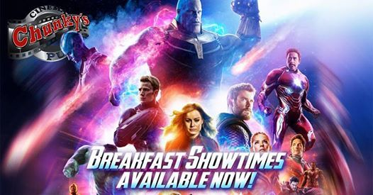 Avengers Endgame Special Breakfast Showings At Chunky S Cinema