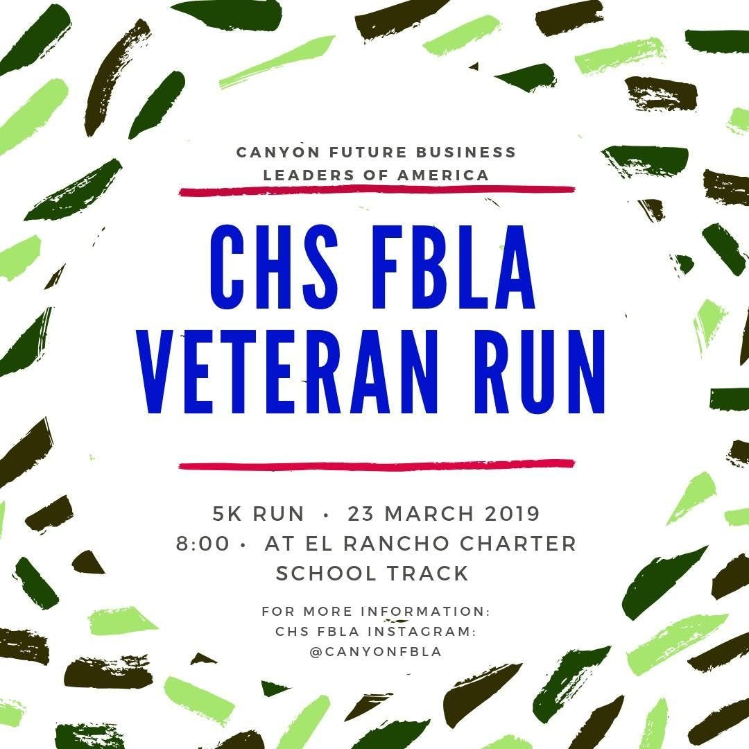 Canyon FBLA 5k Veteran RunWalk