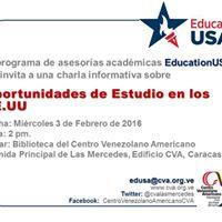 Oportunidades de Estudio en los EEUU a cargo de EducationUSA