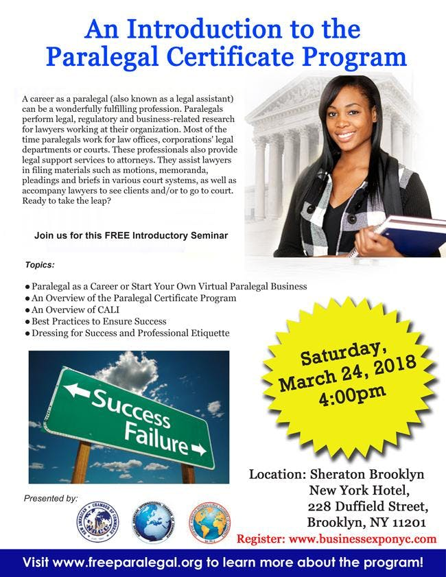 An Introduction To The Paralegal Certificate Program At Sheraton