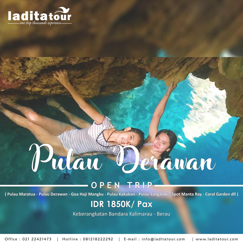 OPEN TRIP Pulau Derawan 3 Hari 2 Malam 24 - 26 Agustus 2018 - Ladita Tour Jakarta