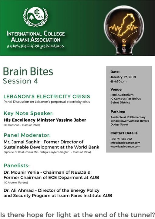 Panel Discussion Lebanons Electricity Crisis