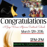 NJoya Weusi African Centered Saturday School Mahafali (Graduation)
