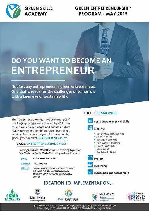 Green Entrepreneurship Course
