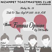 Nizampet Toastmasters Meeting 28