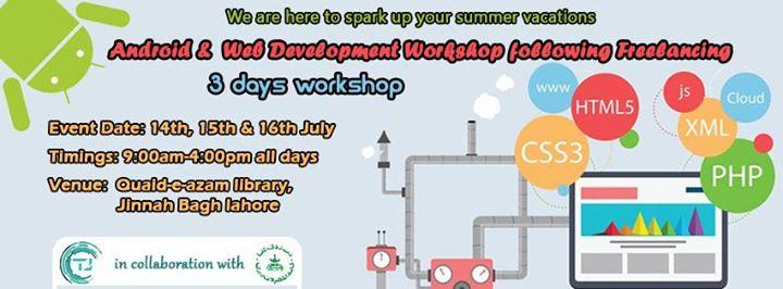 Android & Web Development Workshop following Freelancing