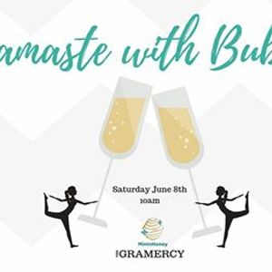 Namaste with Bubbles