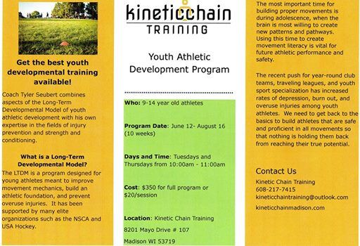 Summer Youth Training Program at Kinetic Chain Training, LLC