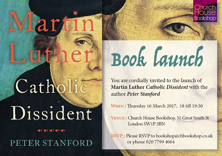 Peter Stanford Martin Luther Book Launch At Church House Bookshop